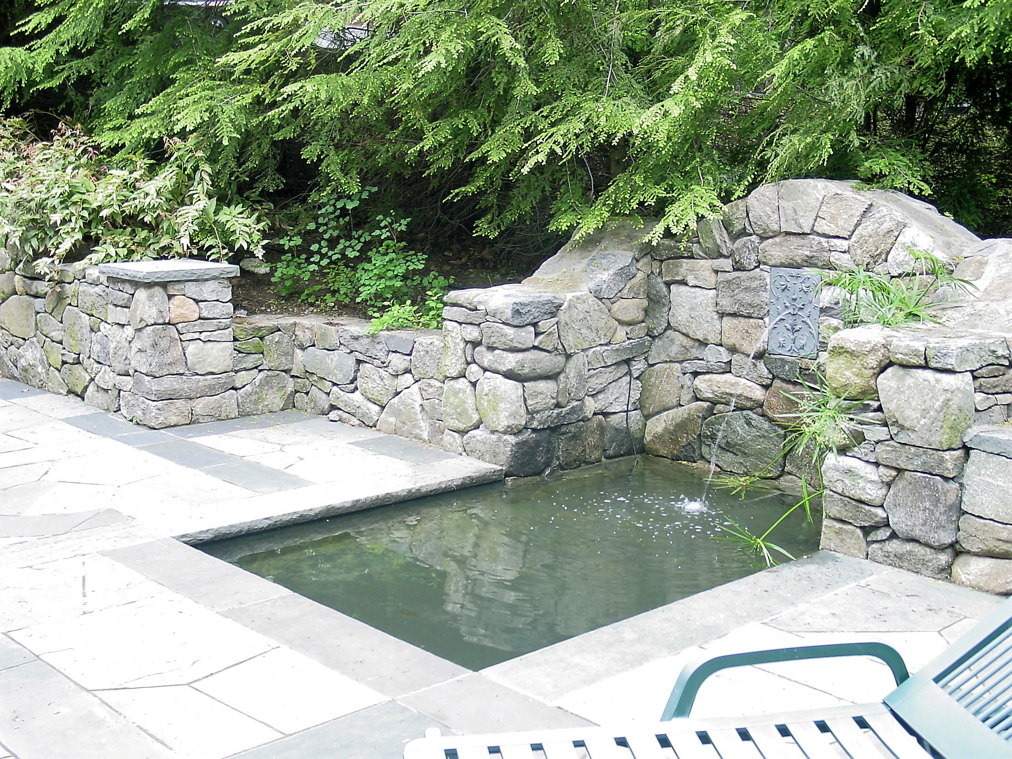 Enjoy the peaceful sound and beauty of a water feature right in your backyard.